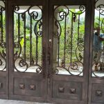 Gates with rustic designs