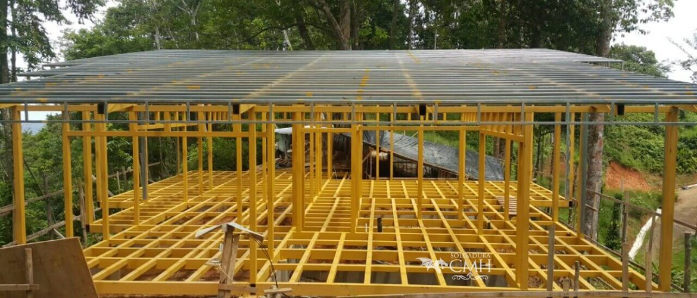 Construcción de estructuras metálicas para techos en Costa Rica