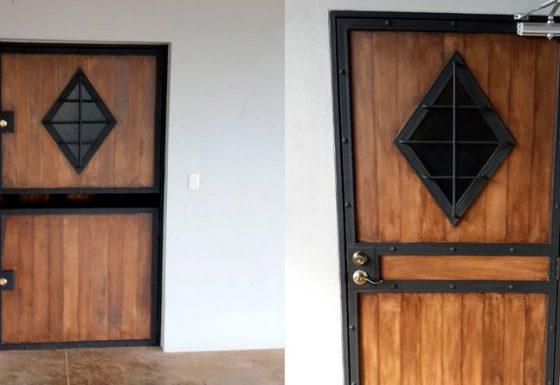 Wood style metal designs